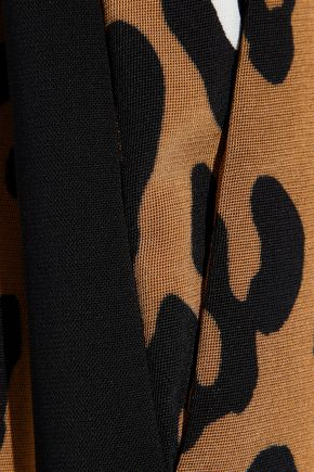 DIANE VON FURSTENBERG Printed cady straight-leg pants