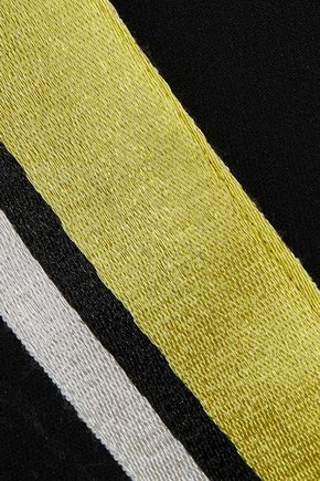 DIANE VON FURSTENBERG Striped crepe straight-leg pants
