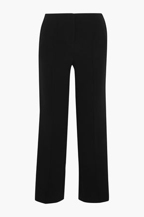 DIANE VON FURSTENBERG Striped crepe straight-leg pants