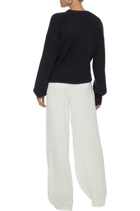 IRIS & INK Lacey satin-crepe wide-leg pants