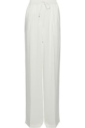 IRIS & INK Lacey satin-crepe wide-leg pants