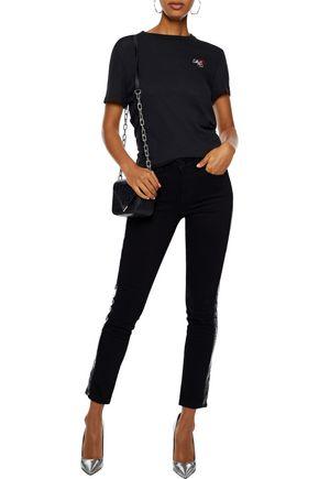 ZOE KARSSEN Coated mid-rise skinny jeans