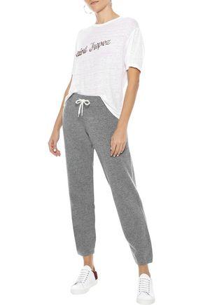 MONROW Mélange cashmere-blend track pants