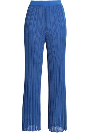 MISSONI Ribbed-knit flared pants