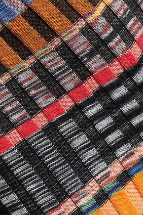 MISSONI Ribbed-knit wool-blend slim-leg pants