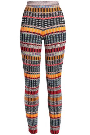 MISSONI Ribbed-knit wool-blend slim-leg pants