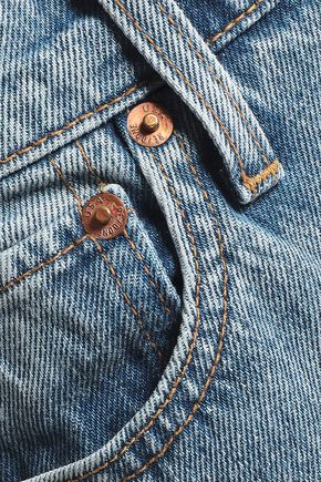 RE/DONE The Crawford frayed mid-rise straight-leg jeans