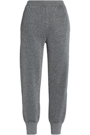 MISSONI Metallic stretch-knit tapered pants
