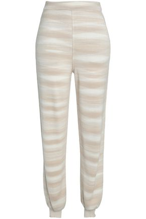 MISSONI Jacquard-knit cashmere and silk-blend track pants