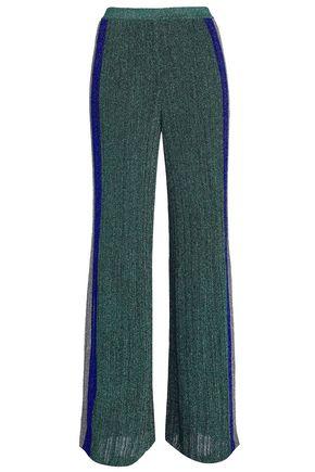 MISSONI Metallic ribbed-knit wide-leg pants