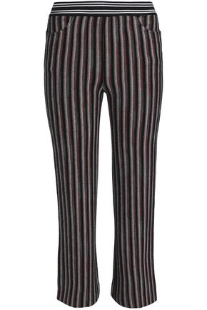 MISSONI Striped wool-blend straight-leg pants