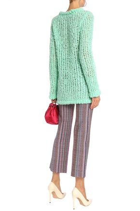 MISSONI Metallic crochet-knit straight-leg pants