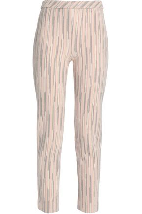 MISSONI Crocheted wool-blend tapered pants