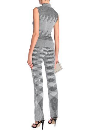 MISSONI Sequin-embellished metallic jacquard-knit straight-leg pants