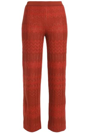 MISSONI Jacquard-knit straight-leg pants