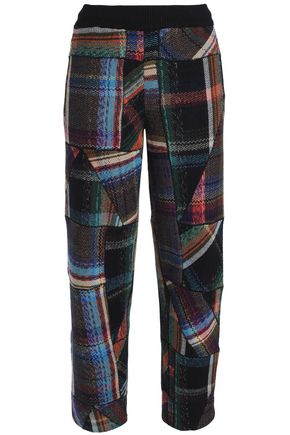 MISSONI Patchwork-effect wool-blend straight-leg pants