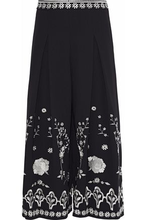 TEMPERLEY LONDON Lettie embroidered culottes