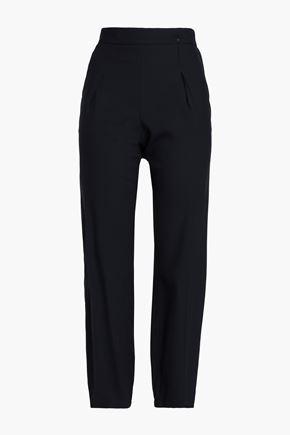 GIORGIO ARMANI Jacquard straight-leg pants