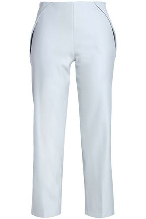 GIORGIO ARMANI Cropped silk-blend crepe straight-leg pants