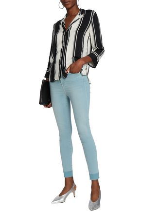7 FOR ALL MANKIND Aubrey frayed high-rise skinny jeans