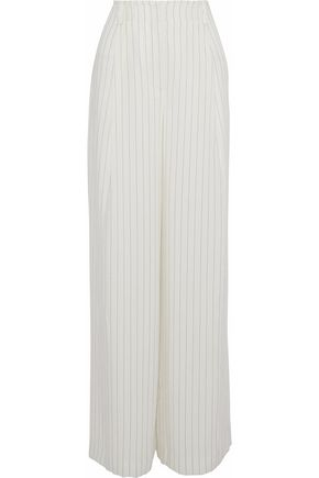 RACHEL ZOE Pinstriped gauze wide-leg pants