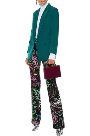 EMILIO PUCCI Printed wool and silk-blend twill straight-leg pants