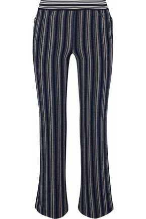 MISSONI Striped wool-blend kick-flare pants
