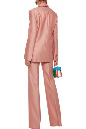EMILIO PUCCI Wool and silk-blend twill straight-leg pants