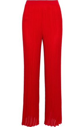 MISSONI Ribbed-knit wide-leg pants