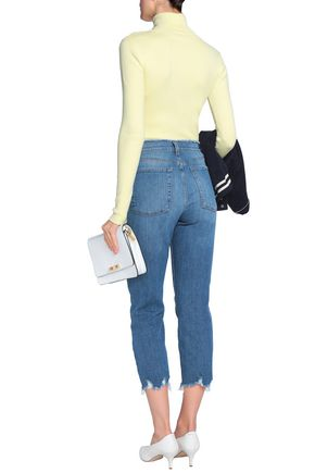 7 FOR ALL MANKIND Josefina frayed cropped high-rise boyfriend jeans