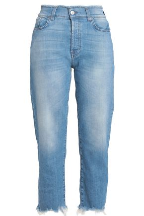 7 FOR ALL MANKIND Frayed faded boyfriend jeans