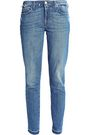 7 FOR ALL MANKIND Distressed low-rise slim-leg jeans