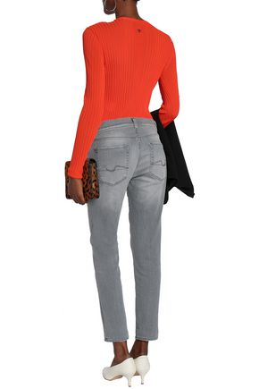 7 FOR ALL MANKIND Cropped high-rise skinny jeans