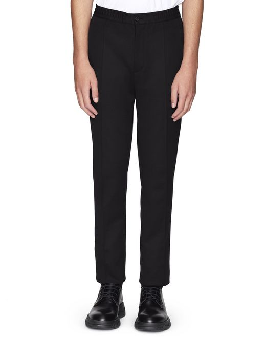 STRAIGHT-LEG MILANO KNIT-EFFECT TROUSERS - Lanvin