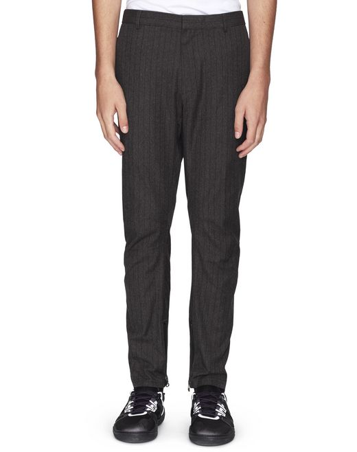 ANTHRACITE COTTON BIKER TROUSERS - Lanvin