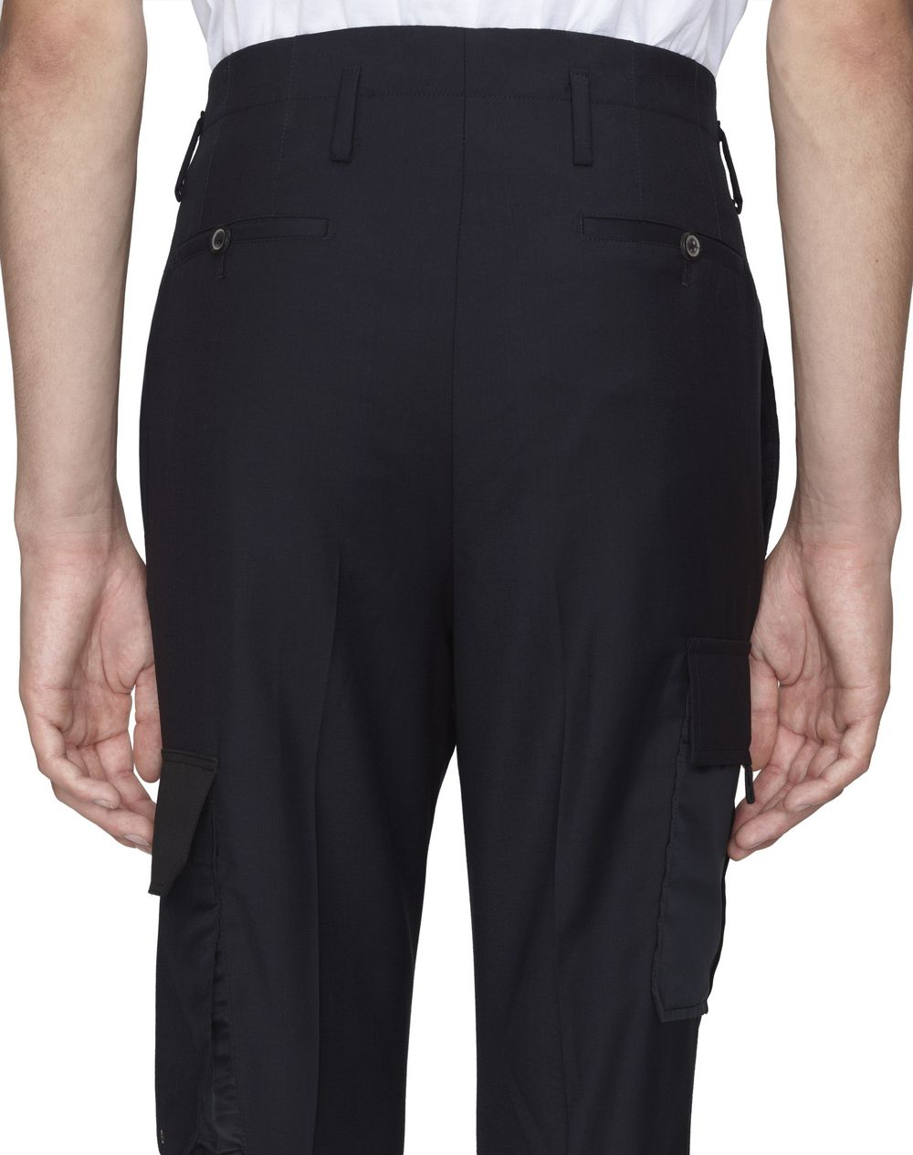 BLACK STRAIGHT-LEG TROUSERS WITH POCKETS - Lanvin