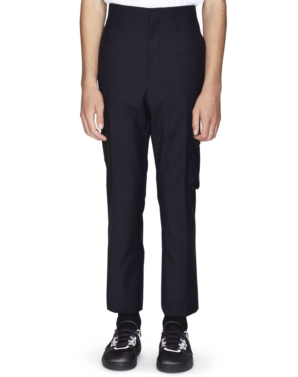 BLACK STRAIGHT-LEG PANTS WITH POCKETS - Lanvin