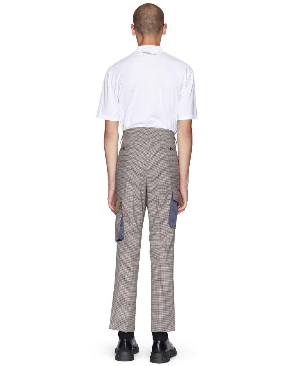MULTICOLORED CHECKERED STRAIGHT-LEG PANTS - Lanvin