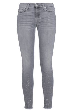7 FOR ALL MANKIND Dawn printed mid-rise skinny jeans