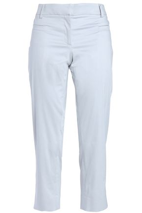 GIORGIO ARMANI Cropped cotton-blend straight-leg pants