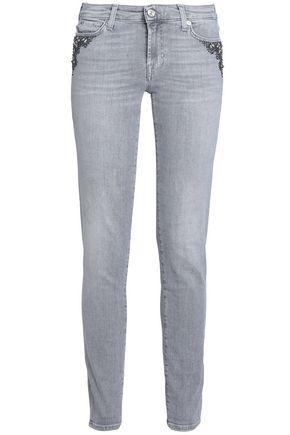 7 FOR ALL MANKIND Pyper embellished mid-rise skinny jeans