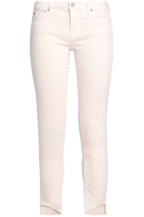 7 FOR ALL MANKIND Pyper frayed low-rise skinny jeans