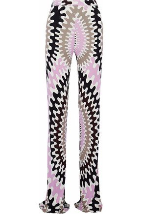 EMILIO PUCCI Printed stretch-jersey bootcut pants