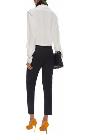 EMILIO PUCCI Cropped stretch-cotton twill tapered pants