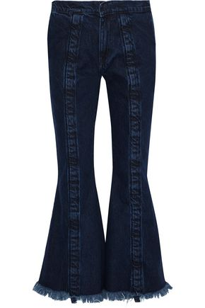MARQUES' ALMEIDA Frayed mid-rise flared jeans