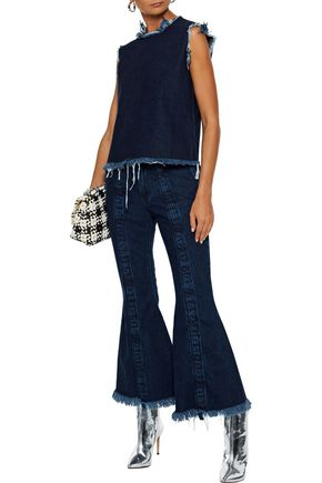 8f0a482aaa3 MARQUES  ALMEIDA Frayed mid-rise flared jeans