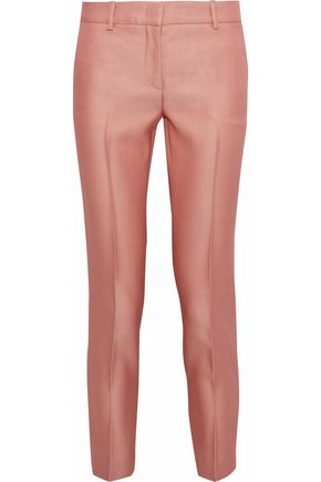 EMILIO PUCCI Cropped wool and silk-blend twill slim-leg pants