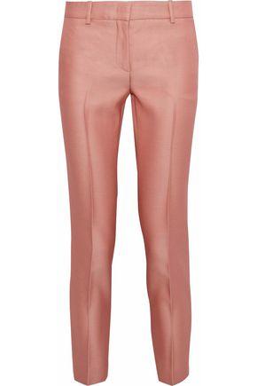 EMILIO PUCCI Cropped wool and silk-blend twill slim-leg pants