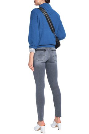 7 FOR ALL MANKIND Pyper distressed low-rise skinny jeans