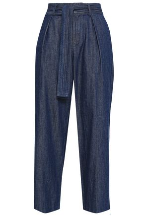 JOIE Cropped high-rise wide-leg jeans